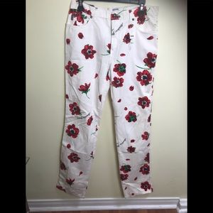 MOSCHINO NEW Floral Poppy Jeans Vintage '90s TAG